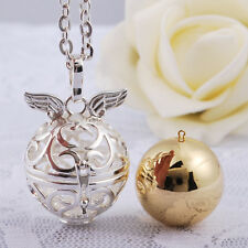 Friendly Silver Plated Angel Wing Harmony Bola Chime ball Sounds Bell Pendant