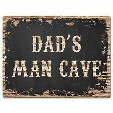 PP1605 DAD'S MAN CAVE Plate Chic Sign Home Room Garage Decor Birthday Gift