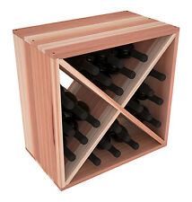 24 Bottle Wine Rack Cube in Premium Redwood. Proudly Made in USA. Free Shipping!