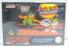 DAFFY DUCK THE MARVIN MISSIONS -  SNES SUPER NINTENDO PAL VERSION BOXED NEW
