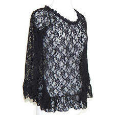 JAYRO white Japan Gothic Lolita Victorian Lace Bell Sleeve Blouse Top size 2