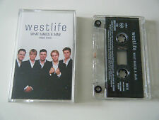 WESTLIFE WHAT MAKES A MAN CASSETTE TAPE 3 TRACK SINGLE RCA BMG UK 2000