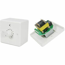 100v Line Volume Control -24W Max- Adjustable Sound Switch-PA Speaker Wall Plate