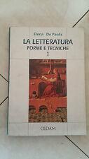 Elena De Paolis - La Letteratura Forme e Tecniche 1 - CEDAM 1995