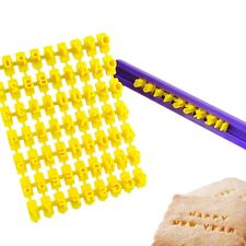 Cutter Embosser Letters Alphabet Cake Biscuit Cookies Mould Mold Stamp DIY Tools