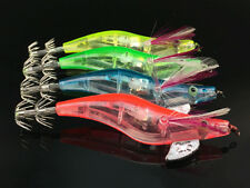 4pcs LED Glow Shrimp Prawn Fishing Baits Squid Lure Bait Crankbaits Tackle Hook