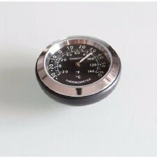 Motorcycle Temperature Watch Handlebar Clock Chrome Waterproof Dial for Harley