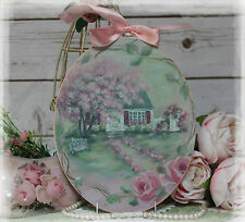 """FLEURS COTTAGE"" ~ Vintage~Shabby Chic~Country Cottage style~Wall Decor Sign"