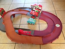 DISNEY PIXAR CARS SHAKE N GO WORLD GRAND PRIX RACE TRACK & 2 CARS