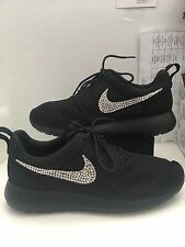 Nike 511881 026 Womens Size 10.5 Rosche One Black Sequined Running Sneakers
