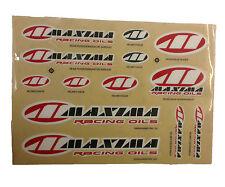 Maxima 13pc Sponsor Sticker Kit Helmet Visor Front / Rear Fender Air Box Fork
