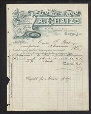 """GIVORS (69) FILATURE de CHANVRE / CORDERIE """"A. CHAIZE"""" en 1907"""