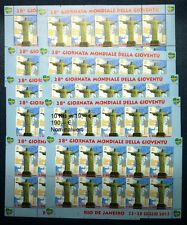 10 Kleinbogen Vatikan 2013 Mi.Nr.1771 ** Weltjugendtag RIO 190,-- € Nominale