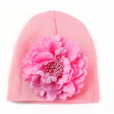 Toddler Kids Girl&Boy Baby Infant Winter Warm Crochet Knit Hat Beanie Floral Cap
