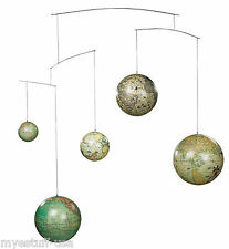 Five Globes From Five Centuries Hanging Mobile -  Authentic Models GL060