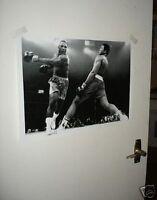 Muhammad Ali v Joe Frazier Fight Action POSTER Swing