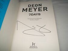 DEON MEYER - 7 ( Seven ) Days SIGNED 1/1 Hb - 2012 - BENNY GRIESSEL book 3