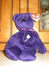 Rare 1997 Ty Beanie Baby Princess Diana Bear China 1st Edition