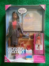 NIB/NRFB BARBIE DOLL☆ WORKING WOMAN AFRICAN-AMERICAN☆MATTEL 1999☆COMES WITH CD