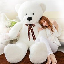 "Huge 31"" White Stuffed Giant Plush Teddy Bear Soft 100% Cotton Doll Gift 80 cm"