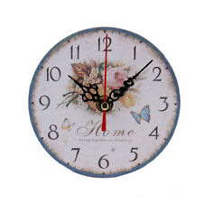 for Home Kitchen Office Vintage Style Non-Ticking Silent Antique Wood Wall Clock