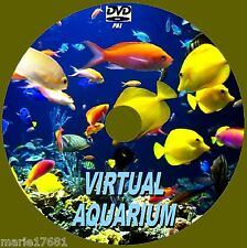VIRTUAL FISH TANK AQUARIUM DVD 10 SOOTHING SCENES & SOUNDS FOR LED PLASMA TV NEW