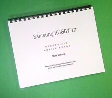 COLOR PRINTED  Samsung Rugby lll User Manual Large-Font 190 Pages FREE SHIPPING