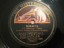 """FLORENCE AUSTRAL, BROWNING MUMMERY """"Miserere"""" (""""IL Trovatore"""") 78rpm 12"""" 1928 EX"""