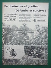 1/1981 PUB HUGHES HELICOPTERS HUGHES 500MD TOW MAST MOUNTED SIGHT FRENCH AD