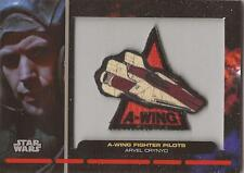 """Star Wars Galactic Files - PR-15 """"Arvel Crynyd"""" Embroidered Patch Relic Card"""