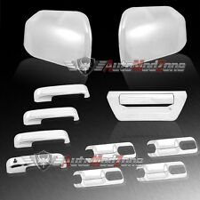 15-17 Ford F-150 Chrome Upper Half Mirror + Tailgate+ 4 Door Handle Full Covers