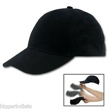 Self Defense Baseball Hat Plain Black Cap Low Profile Weighted Style Impact SAP