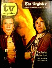 TV Guide 1978 Regional Battlestar Galactica Richard Hatch Dirk Benedict VTG Rare