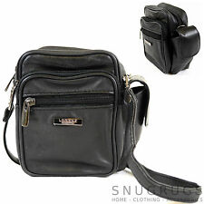 Mens / Ladies Soft Nappa Leather Shoulder /Cross Body / Belt Bag / Pouch
