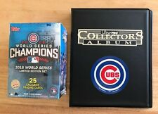 2016 Chicago Cubs Topps World Series Champions Limited Ed Box Set + Album Decal