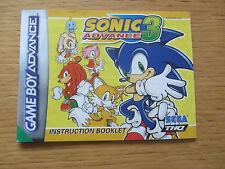 Sonic advance 3 instruction booklet nintendo game boy advance gba [manuel uniquement]