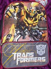 Transformers BUMBLEBEE Backpack NeW Full Size Canvas Book Bag 16x12 Emblem NWT