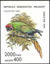 Madagascar 1993 Parrot/Macaw/Birds/Nature/Wildlife IMPERF (1v) m/s (b5194)