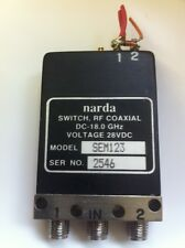 NARDA SEM123 18GHZ FAILSAFE SMA COAX RELAY 50 OHM  fd1L42