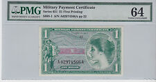 MPC  $1 UNCIRCULATED CRIPS NOTE VIETNAM 651 SERIES , Military Payment