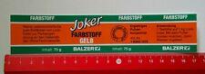 Aufkleber/Sticker: BALZER Farbstoff (15081679)