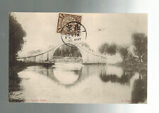 1907 Pekin China Real Picture Postcard Cover Summer Palace Bridge