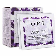 5 X OPI Wipe Off! ACETONE FREE Lacquer Remover Wipes **Great for Travel**