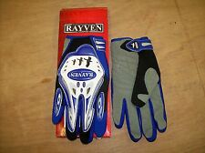 RAYVEN SUPRA MOTORCYCLE GLOVES XL BLACK/GREY/BLUE NEW & BOXED
