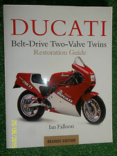 DUCATI BELT-DRIVE 2-VALVE TWIN RESTORATION GUIDE MANUAL F1 SPORT SS PANTAH 79-02