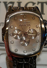Invicta Men's 0067 Lupah Collection Leather Strap Watch MSRP $595