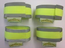 CAT FELINE COLLAR REFLECTIVE HI VIS CUFFS STRIPS FLUORESCENT PROTECTION STRAPS