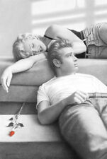 """Marilyn Monroe & James Dean LAMINATED POSTER """"Red Rose, Couch"""" NEW Licensed"""