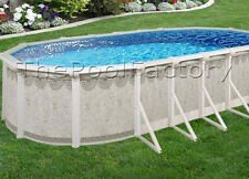 "16x26x52"" 9"" HUGE Resin Ledge - Hampton Oval Above Ground Swimming Pool Package"