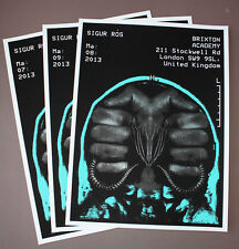SIGUR ROS set of 3 concert posters Brixton Academy 7/8/9 May 2013 by Alan Hynes